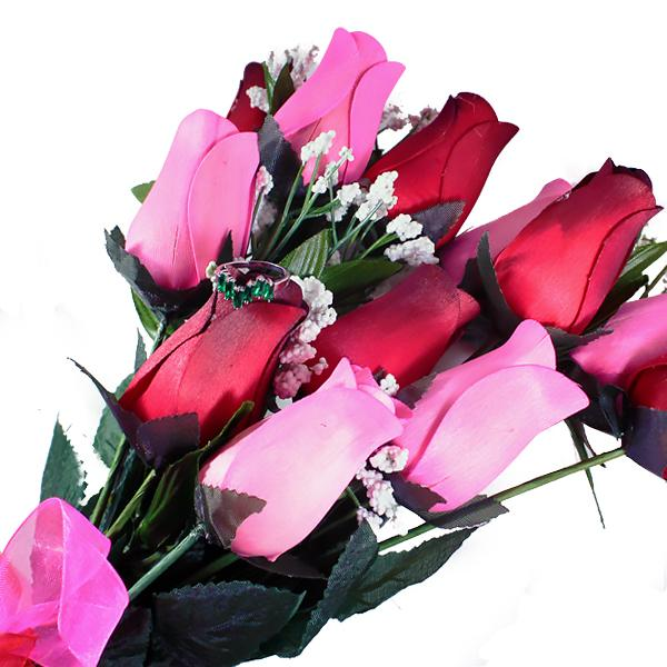 Pink & Red Bouquet | Cash Roses®-Cash Roses®-The Official Website of Jewelry Candles - Find Jewelry In Candles!