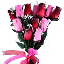 Pink & Red Bouquet | Jewelry Roses®-Jewelry Roses®-The Official Website of Jewelry Candles - Find Jewelry In Candles!
