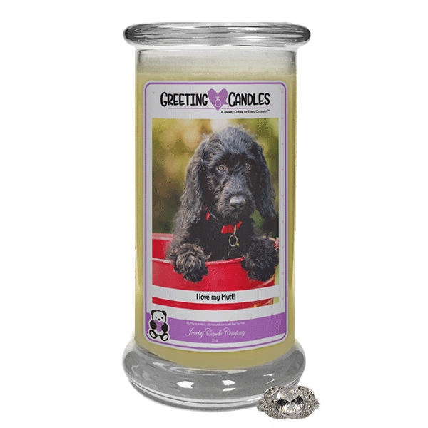 I love my Mutt! - Jewelry Greeting Candles