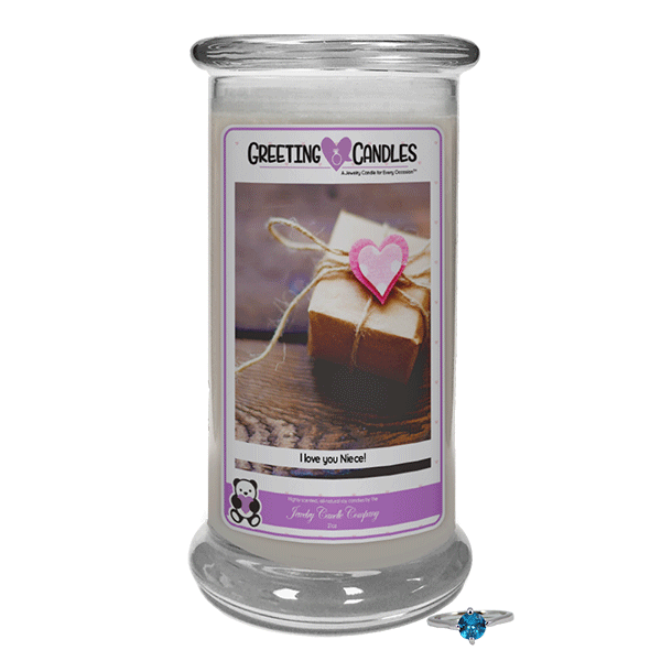 I Love You Niece Jewelry Greeting Candle