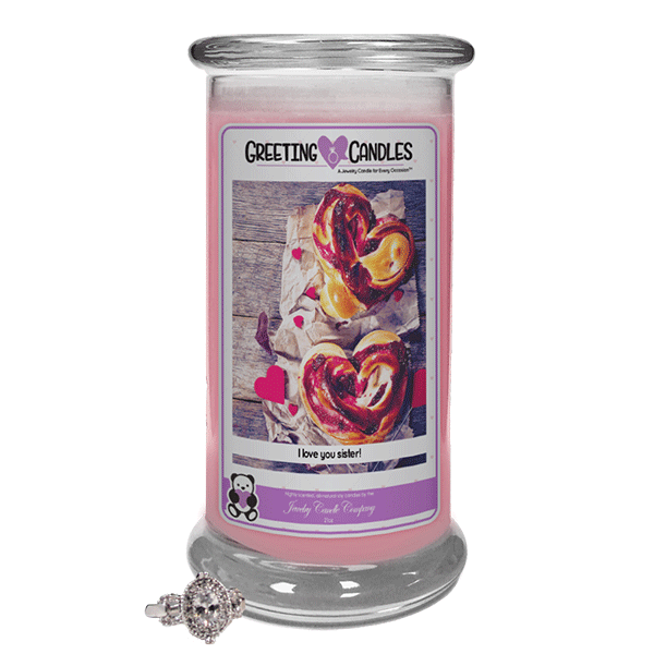 I Love You Sister Jewelry Greeting Candles