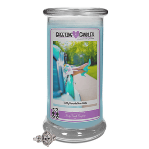To My Favorite Boss Lady | Jewelry Greeting Candles-Jewel Candles-The Official Website of Jewelry Candles - Find Jewelry In Candles!