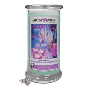 Happy Anniversary Jewelry Greeting Candles-Happy Anniversary Jewelry Greeting Candle-The Official Website of Jewelry Candles - Find Jewelry In Candles!