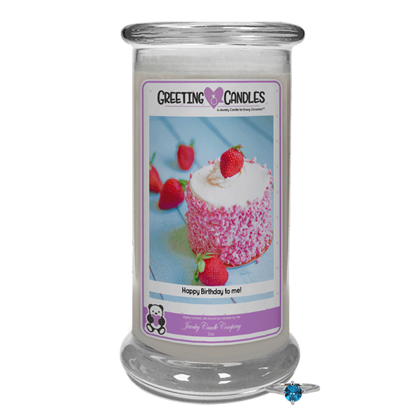 Happy Birthday To Me | Jewelry Greeting Candles-Happy Birthday To Me Jewelry Greeting Candle-The Official Website of Jewelry Candles - Find Jewelry In Candles!