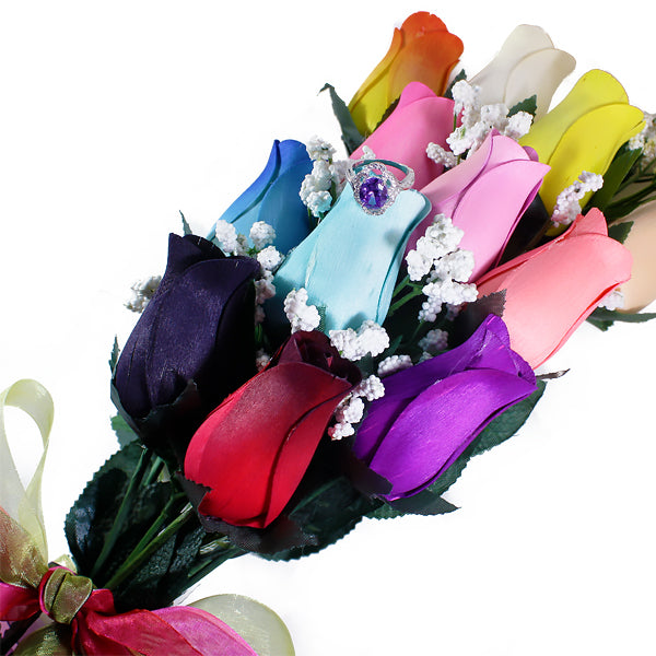 Rainbow Bouquet | Jewelry Roses®-Jewelry Roses®-The Official Website of Jewelry Candles - Find Jewelry In Candles!