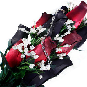 Black & Red Bouquet | Jewelry Roses®-Jewelry Roses®-The Official Website of Jewelry Candles - Find Jewelry In Candles!