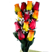 Red & Orange Yellow Ombré Bouquet | Jewelry Roses®-Jewelry Roses®-The Official Website of Jewelry Candles - Find Jewelry In Candles!