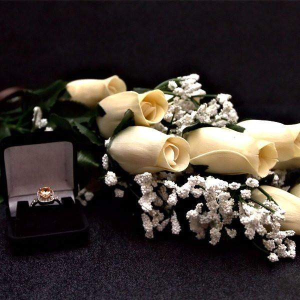 Cream Half Dozen | Jewelry Roses®-Create Your Own Dozen Roses-The Official Website of Jewelry Candles - Find Jewelry In Candles!