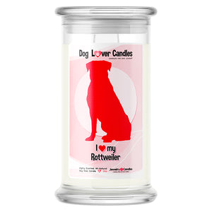 Rottweiler Dog Lover Candle