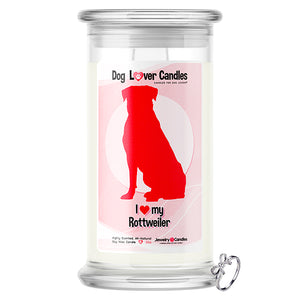 Rottweiler Dog Lover Jewelry Candle