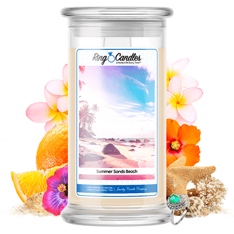 Summer Sands Beach Ring Candle