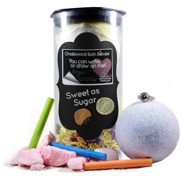 Sweet As Sugar | Jewelry Chalkboard Bath Bombs-Chalkboard Bath Bombs-The Official Website of Jewelry Candles - Find Jewelry In Candles!