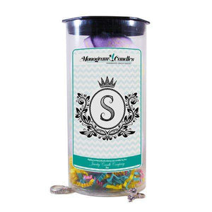 Letter S Monogram Bath Bombs-Jewelry Bath Bombs-The Official Website of Jewelry Candles - Find Jewelry In Candles!