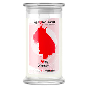 Schnauzer Dog Lover Candle
