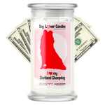 Shetland Sheepdog Dog Lover Cash Candle