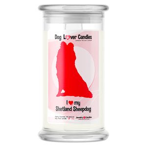 Shetland Sheepdog Dog Lover Candle
