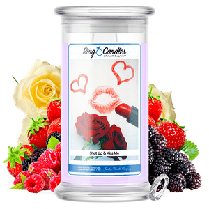Shut Up & Kiss Me Ring Candle