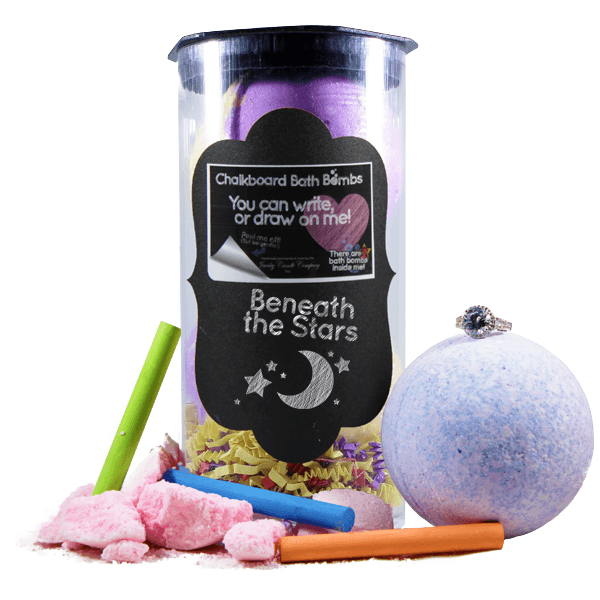 Beneath the Stars | Jewelry Chalkboard Bath Bombs-Chalkboard Bath Bombs-The Official Website of Jewelry Candles - Find Jewelry In Candles!