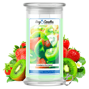 Strawberry Kiwi Splash Ring Candle