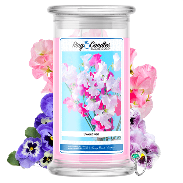 Sweet Pea Ring Candle