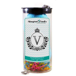 Letter V | Monogram Bath Bombs-Jewelry Bath Bombs-The Official Website of Jewelry Candles - Find Jewelry In Candles!