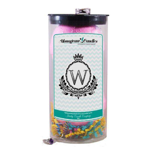 Letter W | Monogram Bath Bombs-Jewelry Bath Bombs-The Official Website of Jewelry Candles - Find Jewelry In Candles!