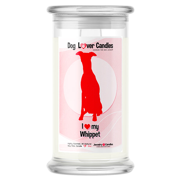 Whippet Dog Lover Candle