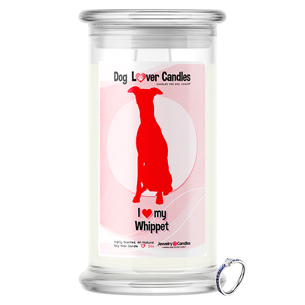 Whippet Dog Lover Jewelry Candle