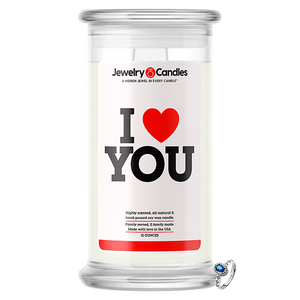 I Love You Jewelry Love Candle