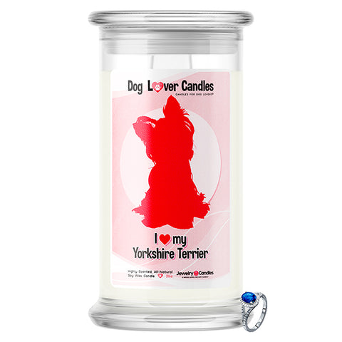 Yorkshire Terrier Dog Lover Jewelry Candle