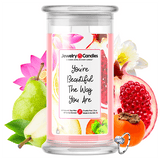You're Beautiful The Way You Are Jewelry Candle
