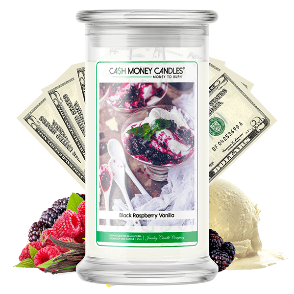 Black Raspberry Vanilla Cash Money Candle