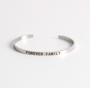 Forever Family Stainless Steel Cuff Bracelet-The Official Website of Jewelry Candles - Find Jewelry In Candles!