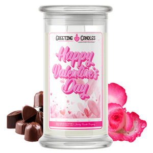 Happy Valentines Day Jewelry Candle