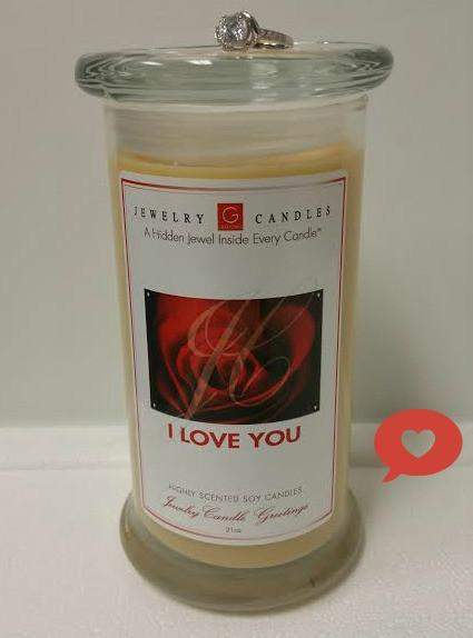 I LOVE YOU Jewelry Greeting Candle-I LOVE YOU Greeting Candles-The Official Website of Jewelry Candles - Find Jewelry In Candles!