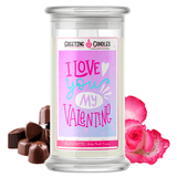 I Love You My Valentine Jewelry Candle