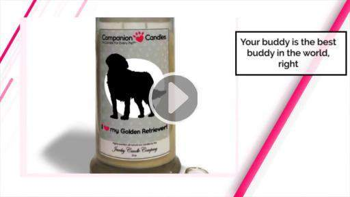 I Love My Golden Retriever! - Companion Candles-Companion Candles-The Official Website of Jewelry Candles - Find Jewelry In Candles!