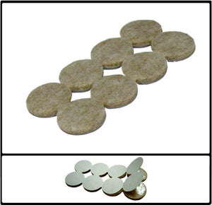 FURNITURE FELT PAD FLOOR PROTECTORS (TAN) CASE