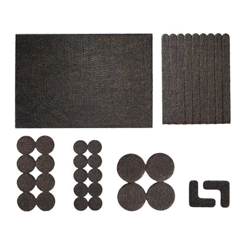 FURNITURE FELT PAD FLOOR PROTECTORS (BROWN) CASE