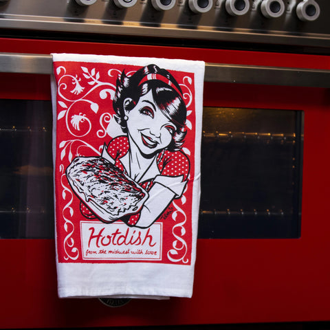 Hotdish Tea Towel by Adam Turman