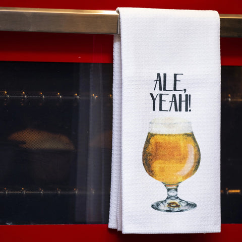 Ale, Yeah! Tea Towel