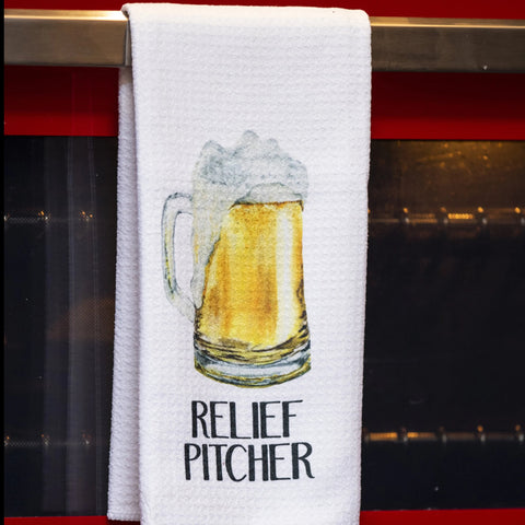 Relief Pitcher Tea Towel