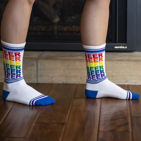 Rainbow Beer Gym Socks