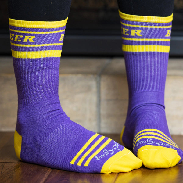 "Vikings ""Beer"" Crew Cut Gym Socks"