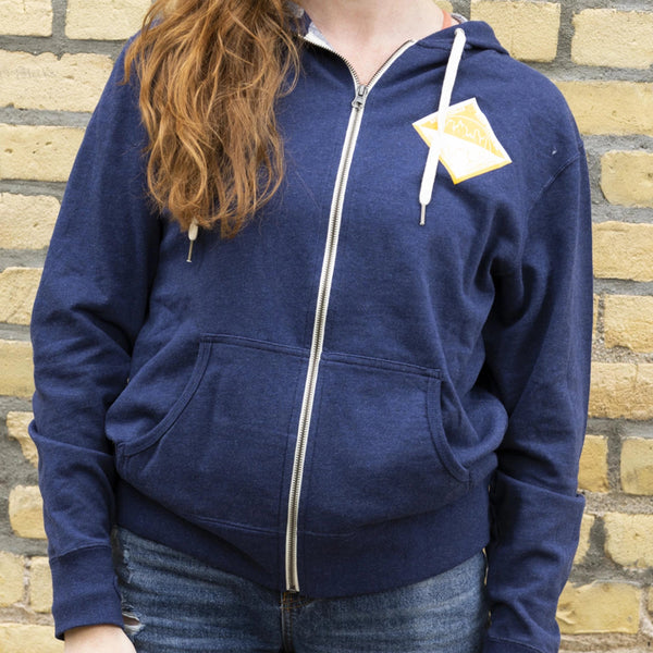 Beer Dabbler Navy Hop Zip-Up Sweatshirt
