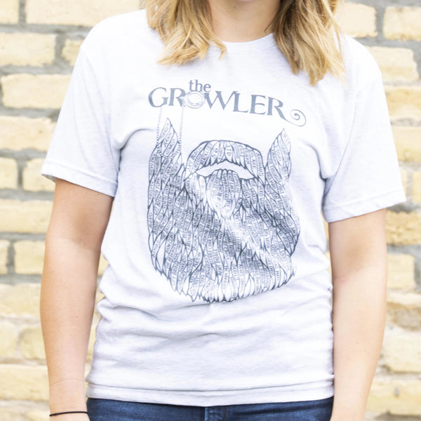 Growler Brewery Beard by DWITT T-Shirt