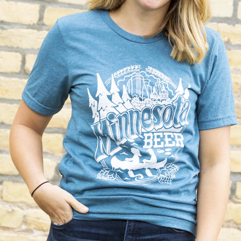 Minnesota Beer by Jeff Nelson T-Shirt