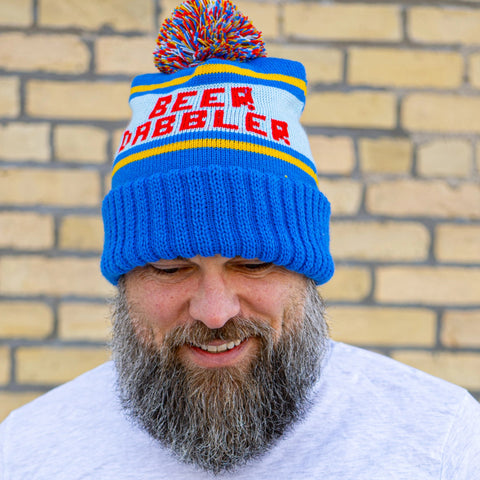 Red & Blue Winter Beer Dabbler Pom Hat
