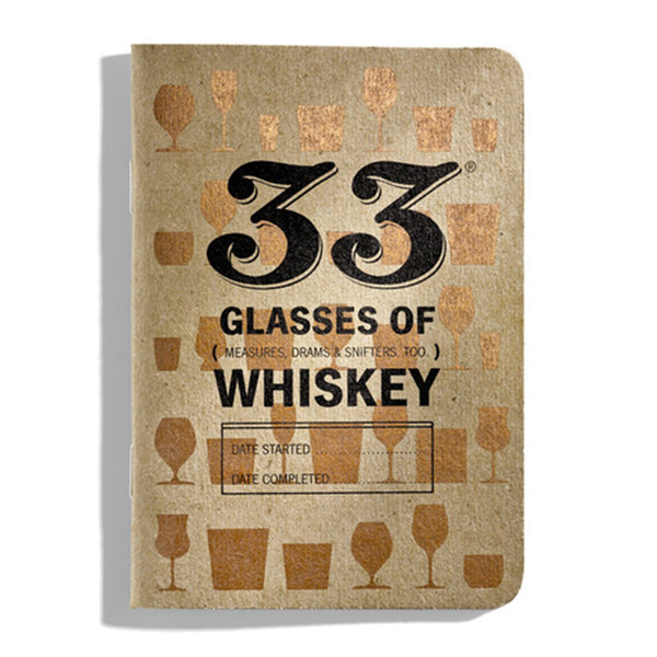 33 Glasses of Whiskey Tasting Notebook