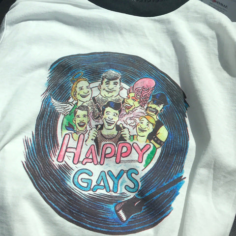 Happy Gays by Jeff Nelson T-Shirt